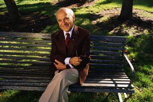 1988 --- Nobel Laureate Milton Friedman --- Image by © Ed Kashi/CORBIS