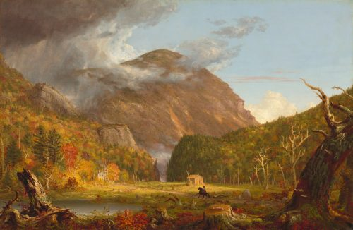 "Thomas Cole, ""A View of the Mountain Pass Called the Notch of the White Mountains (Crawford Notch),"" 1839."