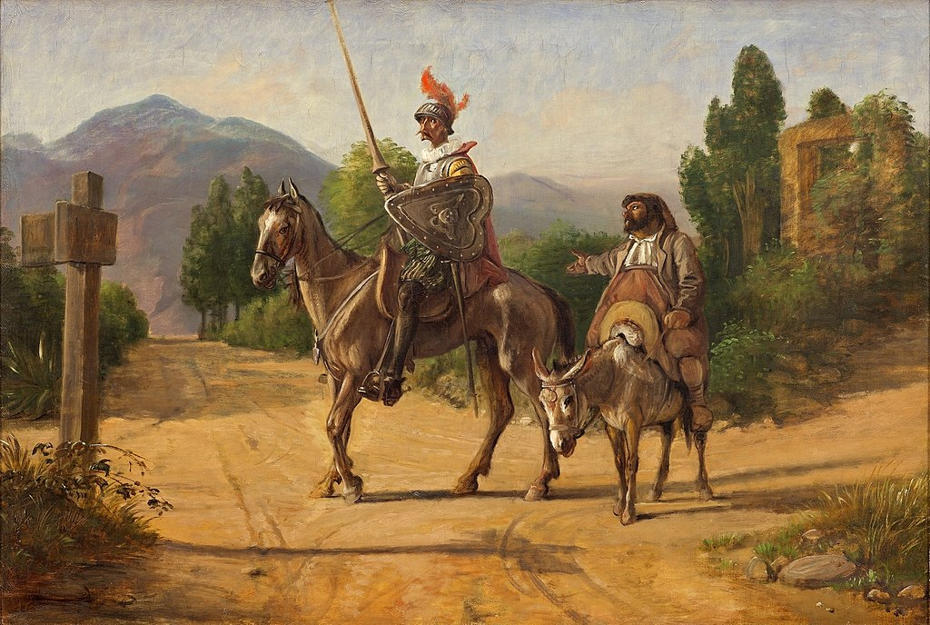 Wilhelm Marstrand-Don Quixote and Sancho Panza at a crossroad